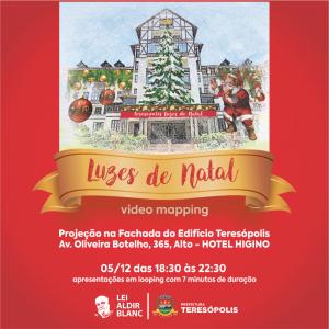 Luzes de Natal video mapping Teresópolis