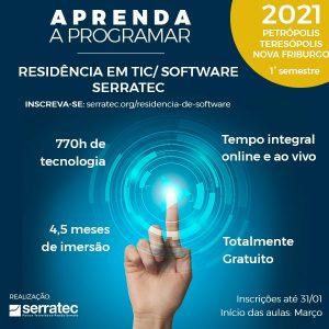Serratec oferece 74 vagas para Residência em Software em Teresópolis