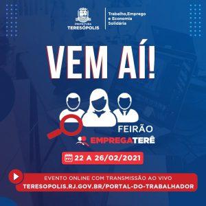 'Pra Cima Terê': Teresópolis realizará o 'Feirão Emprega Terê', com mais de 200 oportunidades de vagas de emprego