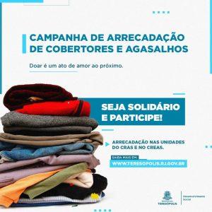 Campanha de arrecadação de agasalhos e cobertores em Teresópolis