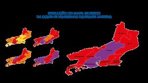 Mapa de risco da Covid-19: estado apresenta bandeira roxa