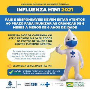 Atenção ao prazo de Vacinação Contra a Gripe em Teresópolis
