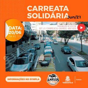 'Carreata Solidária': Desfile de carros antigos, neste domingo, 20, terá transmissão pela internet