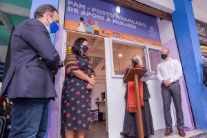 Prefeito Vinicius Claussen inaugura Posto Avançado de Apoio à Mulher na Rodoviária