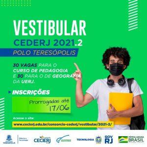 Vestibular Cederj 2021- Inscrições prorrogadas até dia 17