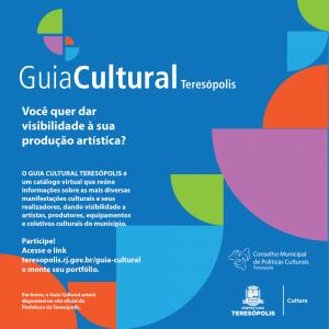 Prefeitura convida artistas para integrar catálogo virtual 'Guia Cultural Teresópolis'