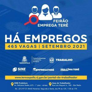 Feirão Emprega Terê oferece 465 oportunidades de emprego em Teresópolis