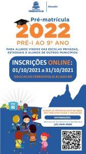Pré-matrícula online para escolas municipais acontece de 1º a 31 de outubro