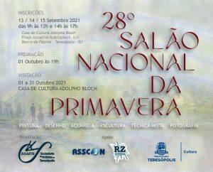 Inscrições para o 28º Salão Nacional da Primavera acontecem nos dias 13, 14 e 15 de setembro