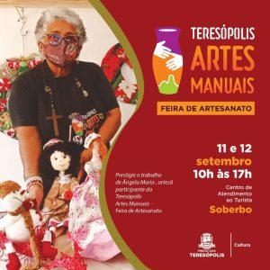 Feira de Artes Manuais em Teresópolis dias 11 e 12-09-2021