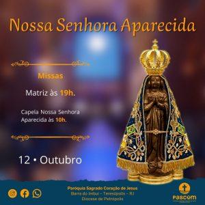Missas de Nossa Senhora Aparecida em Teresópolis