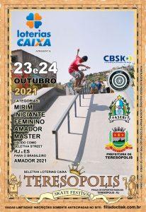 Teresópolis Skate Festival – seletiva de skate street amador nos dias 23 e 24-10
